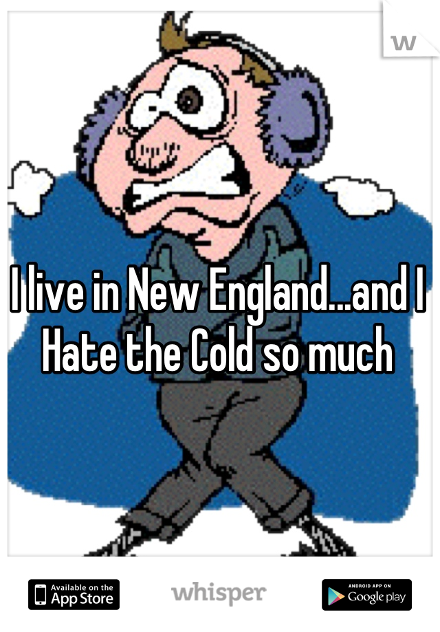 I live in New England...and I Hate the Cold so much