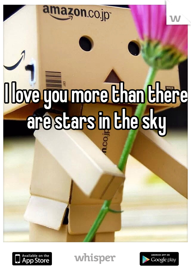 I love you more than there are stars in the sky