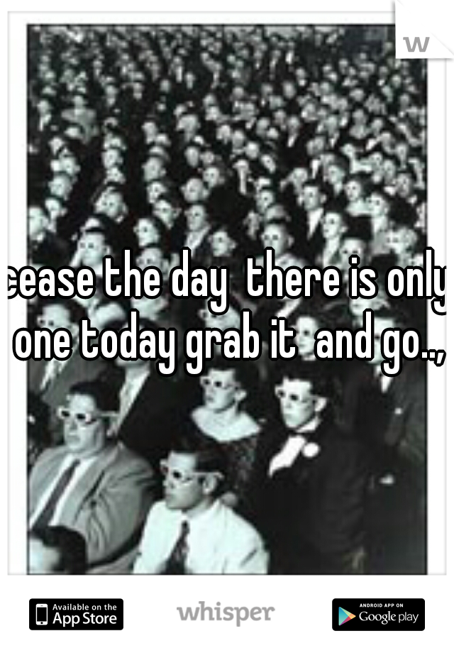 cease the day  there is only one today grab it  and go..,