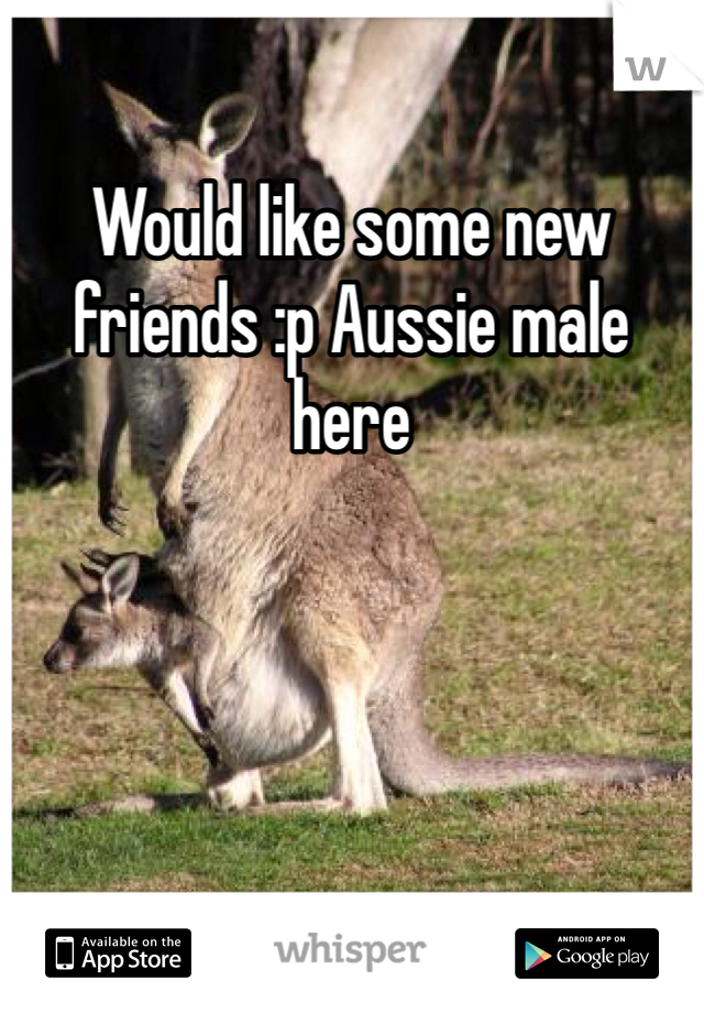 Would like some new friends :p Aussie male here