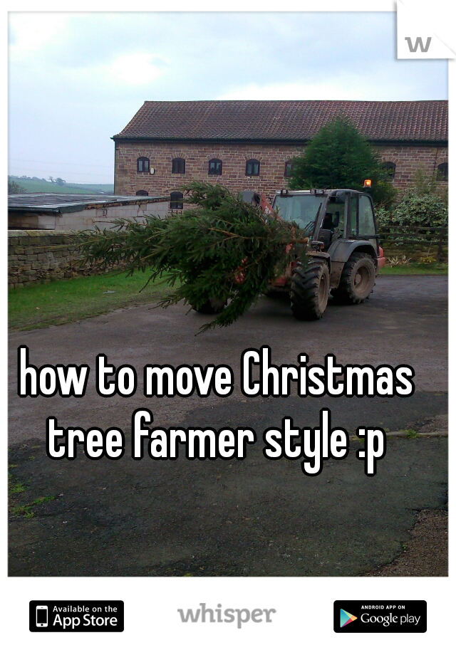 how to move Christmas tree farmer style :p