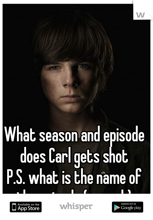 What season and episode does Carl gets shot  P.S. what is the name of the episode (no web)