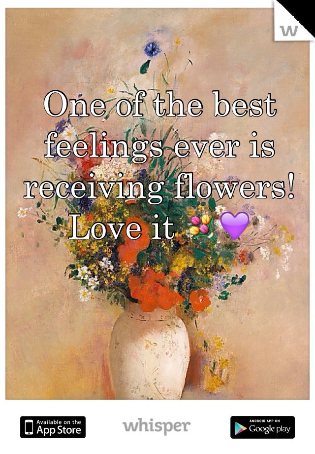 One of the best feelings ever is receiving flowers! Love it 💐💜