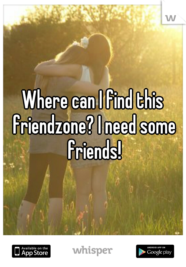 Where can I find this friendzone? I need some friends!