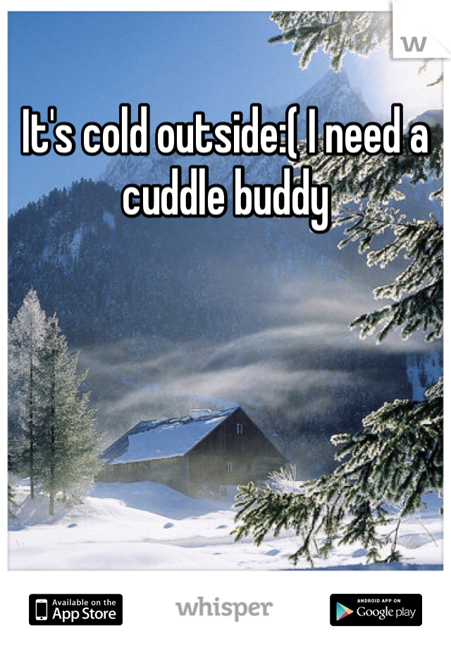 It's cold outside:( I need a cuddle buddy