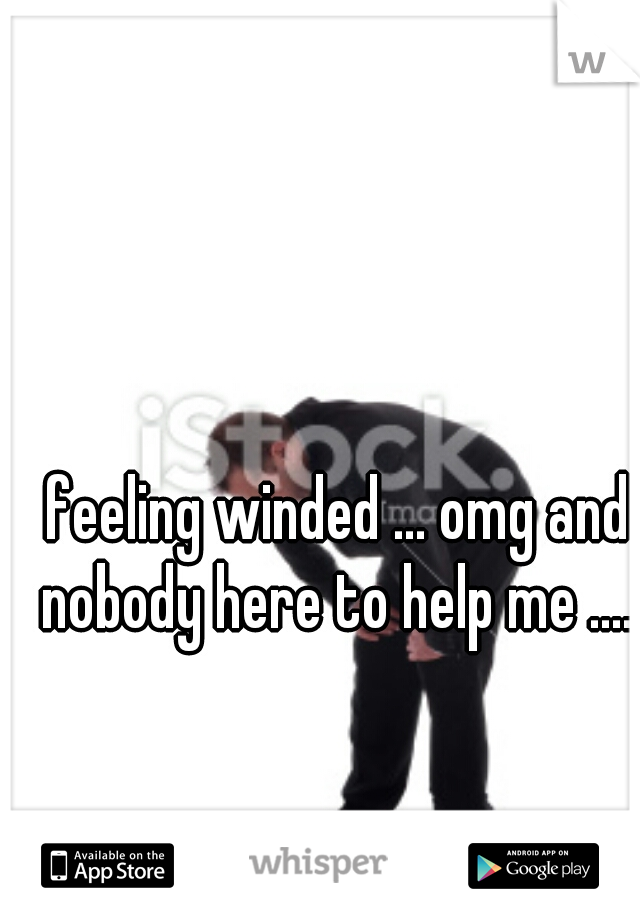 feeling winded ... omg and nobody here to help me ....