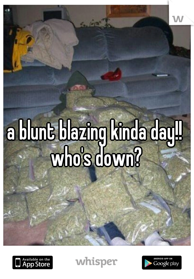 a blunt blazing kinda day!!  who's down?
