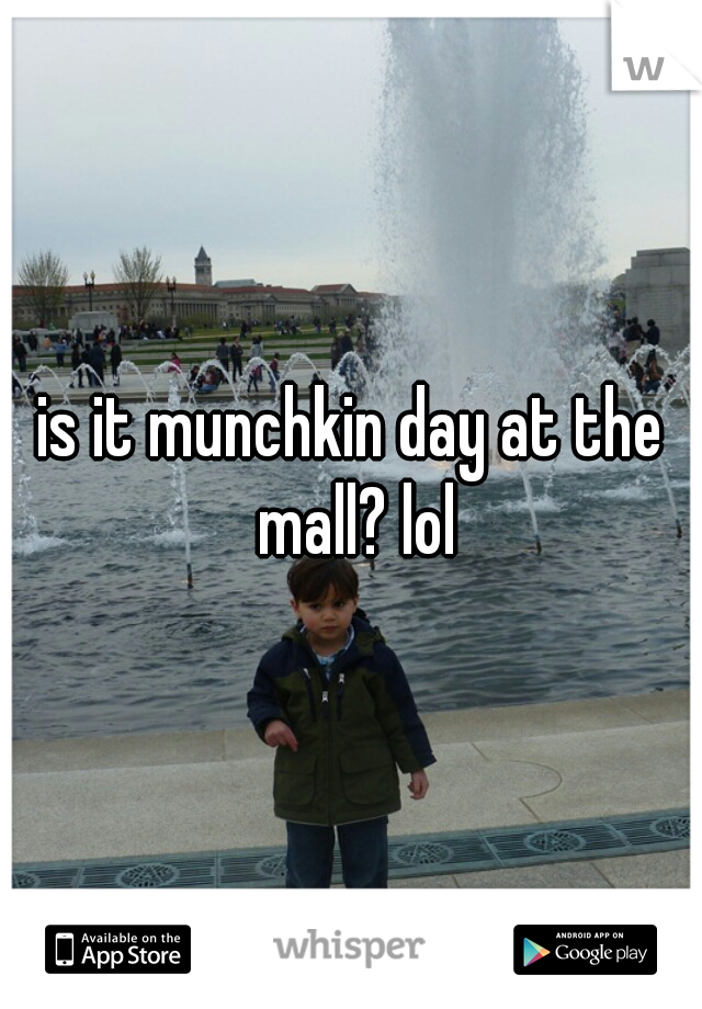 is it munchkin day at the mall? lol