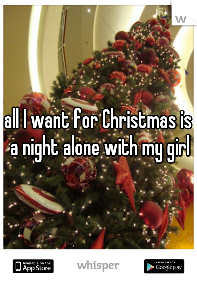 all I want for Christmas is a night alone with my girl