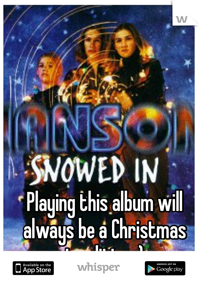 Playing this album will always be a Christmas tradition :)