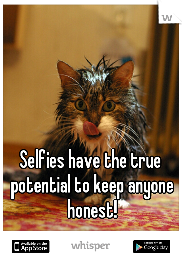 Selfies have the true potential to keep anyone honest!