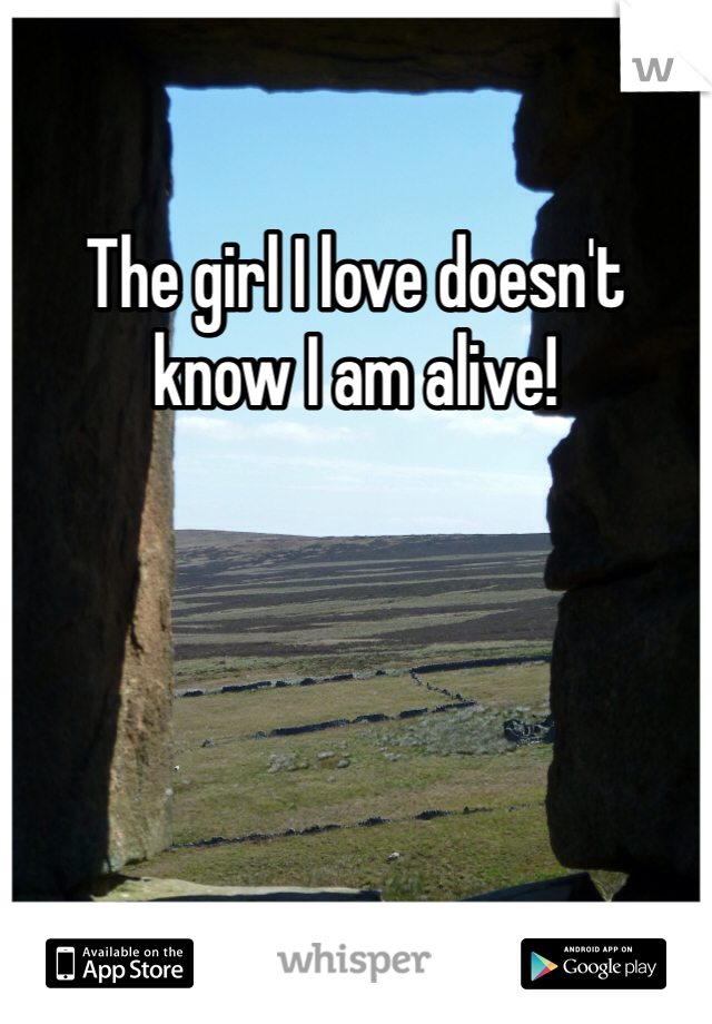 The girl I love doesn't know I am alive!