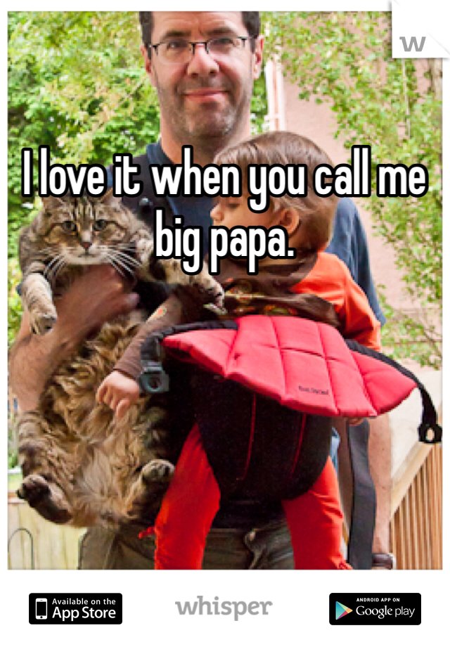 I love it when you call me big papa.