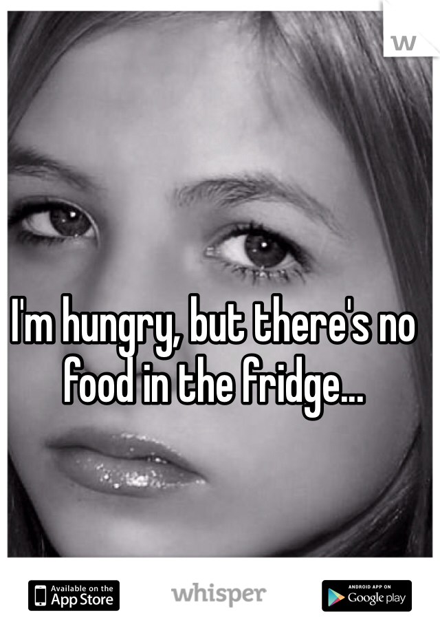 I'm hungry, but there's no food in the fridge...