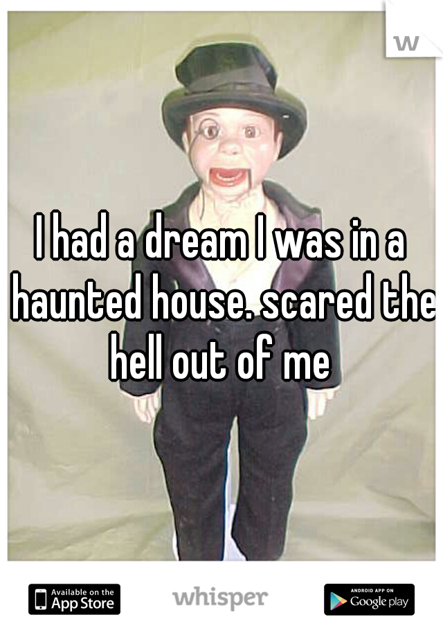I had a dream I was in a haunted house. scared the hell out of me