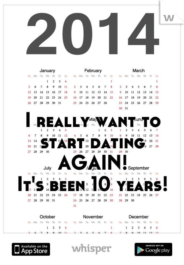 I really want to start dating  AGAIN! It's been 10 years!