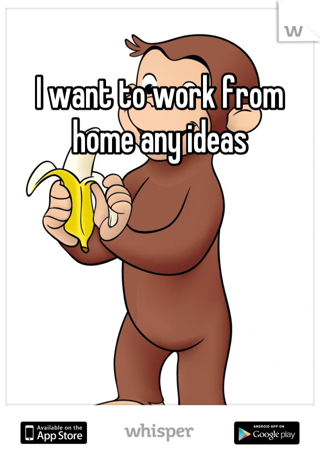 I want to work from home any ideas