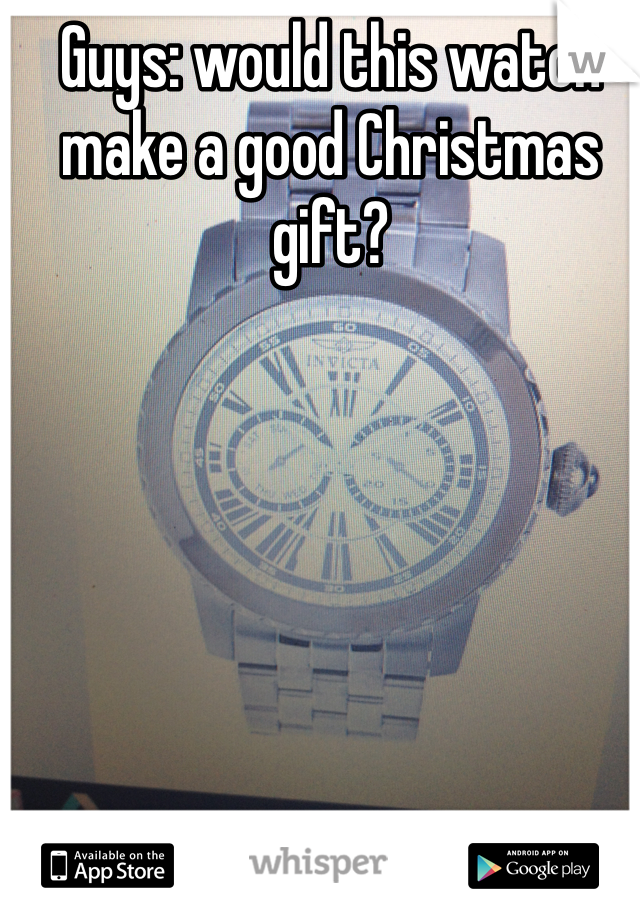 Guys: would this watch make a good Christmas gift?