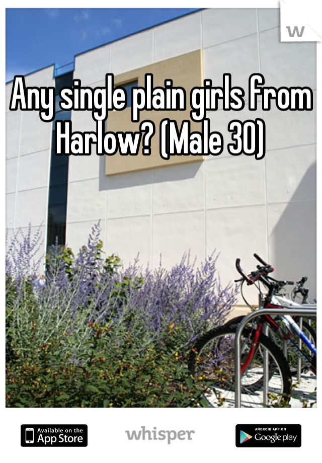 Any single plain girls from Harlow? (Male 30)