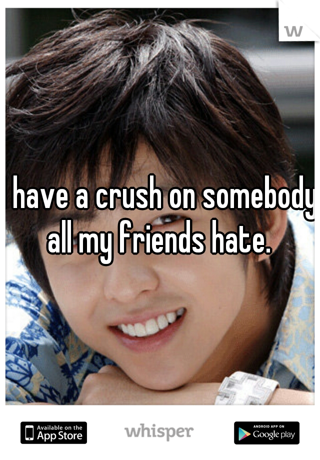 I have a crush on somebody all my friends hate.