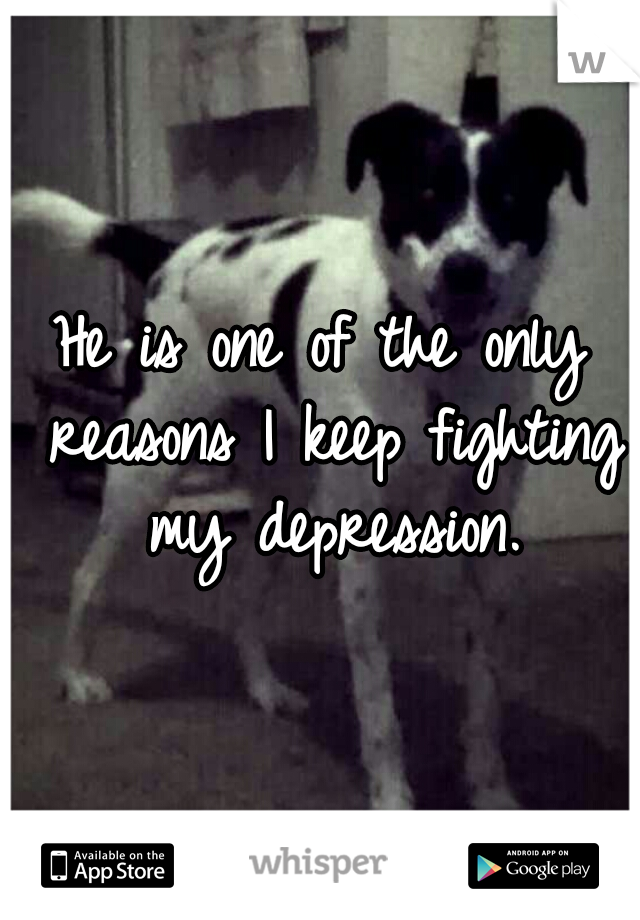 He is one of the only reasons I keep fighting my depression.