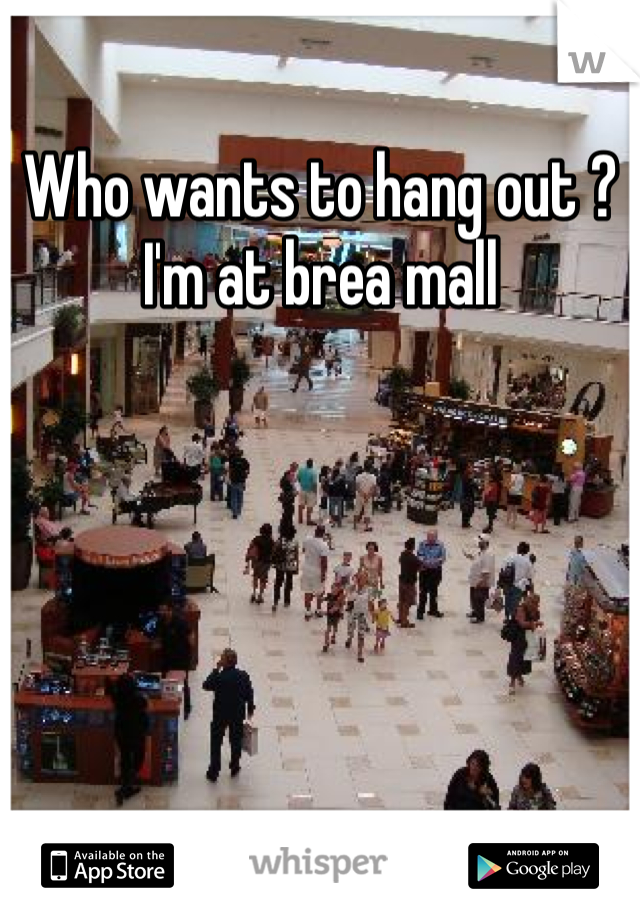 Who wants to hang out ? I'm at brea mall
