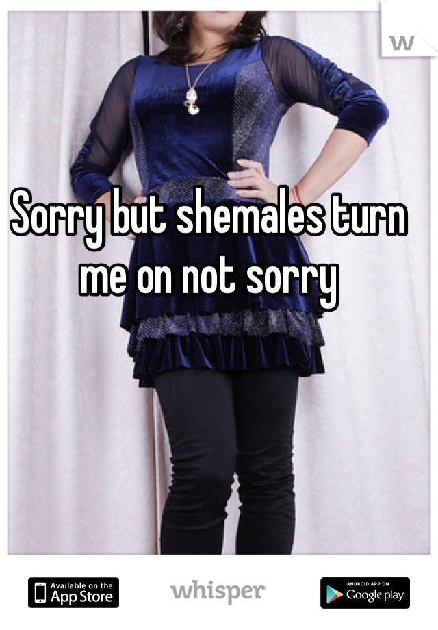Sorry but shemales turn me on not sorry