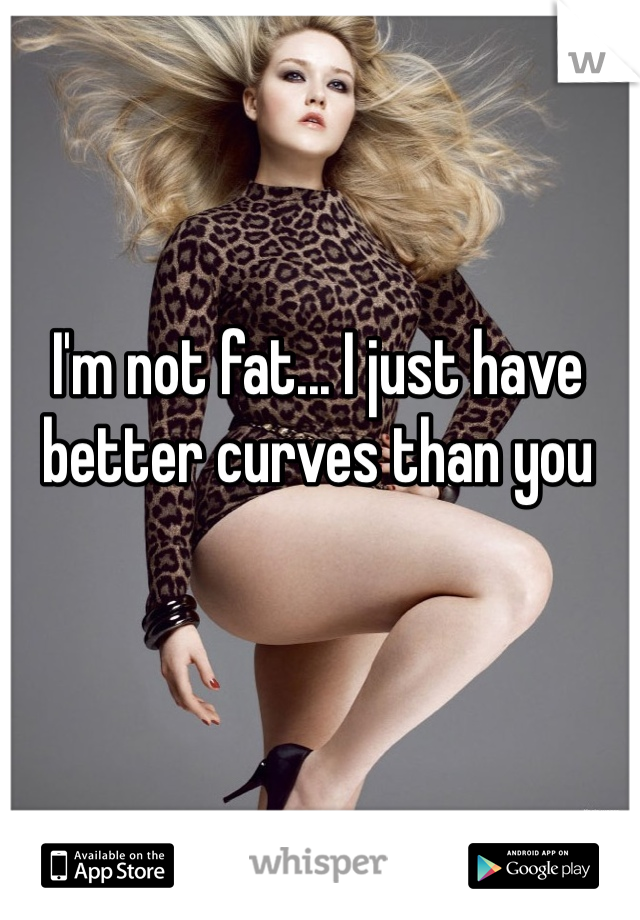 I'm not fat... I just have better curves than you