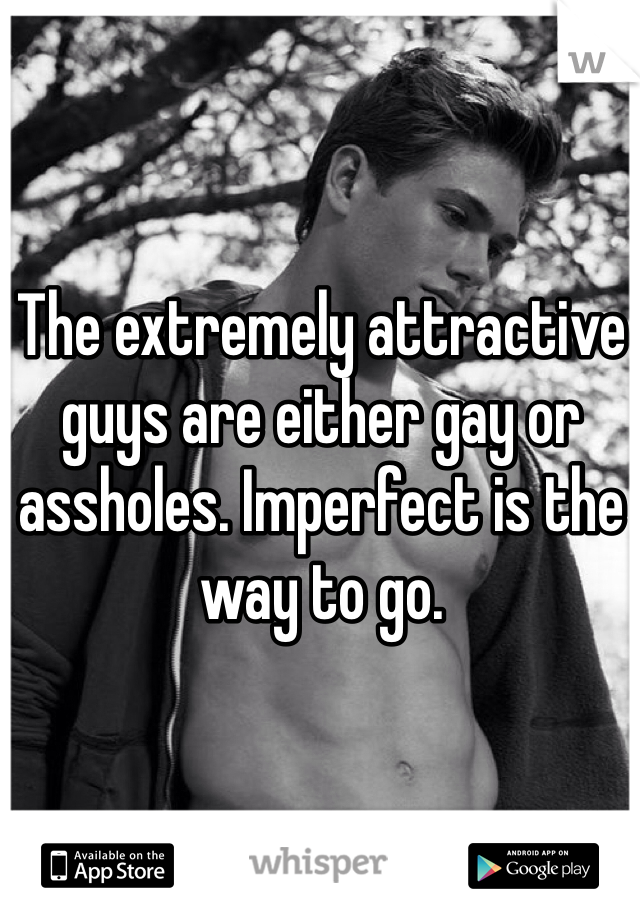 The extremely attractive guys are either gay or assholes. Imperfect is the way to go.