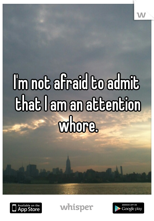 I'm not afraid to admit that I am an attention whore.