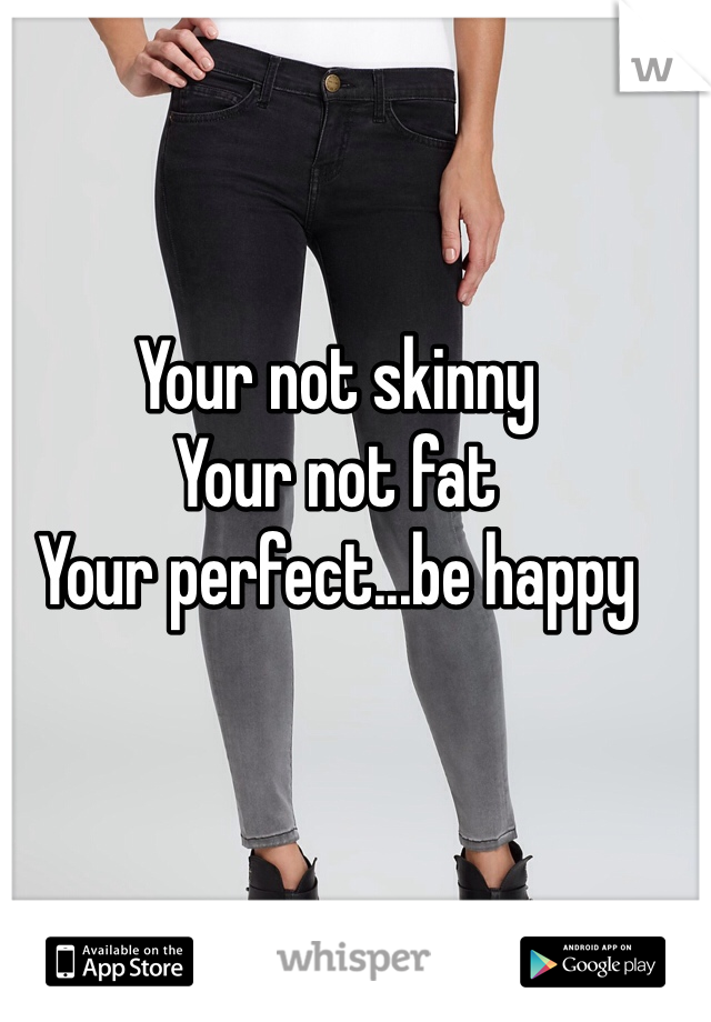 Your not skinny Your not fat Your perfect...be happy