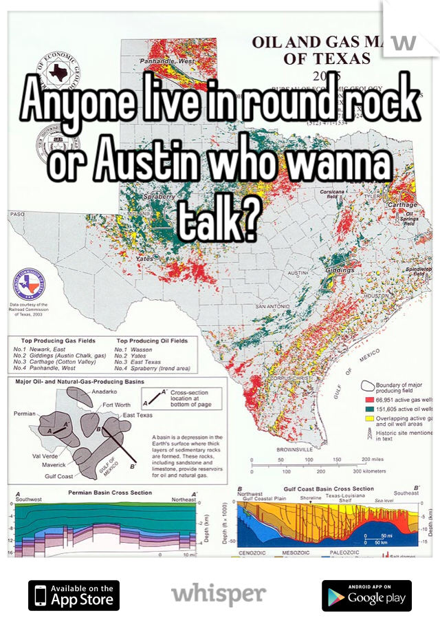 Anyone live in round rock or Austin who wanna talk?