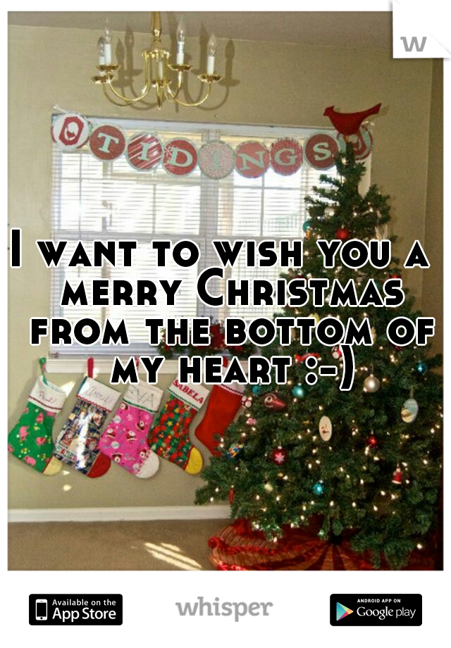 I want to wish you a  merry Christmas from the bottom of my heart :-)