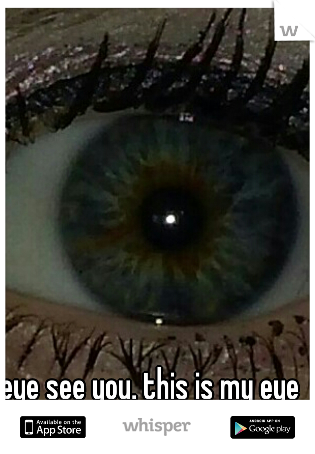 eye see you. this is my eye btw