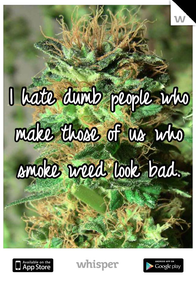 I hate dumb people who make those of us who smoke weed look bad.