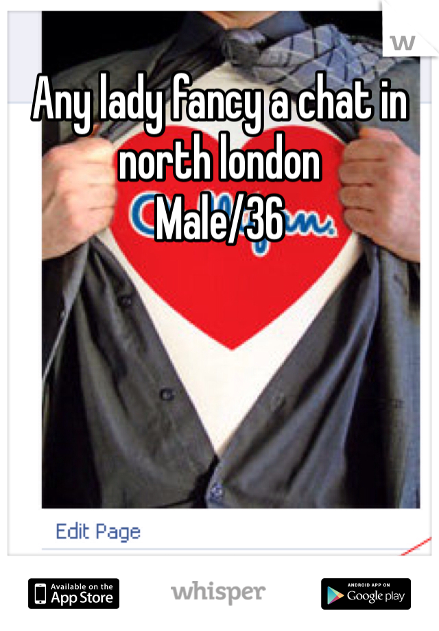 Any lady fancy a chat in north london  Male/36