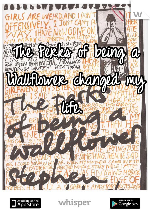 The Perks of being a Wallflower changed my life.