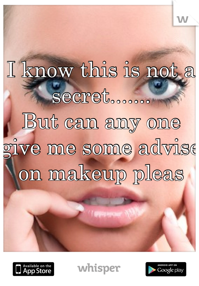 I know this is not a secret.......  But can any one  give me some advise on makeup pleas