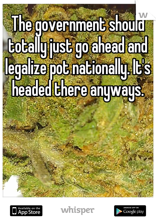 The government should totally just go ahead and legalize pot nationally. It's headed there anyways.