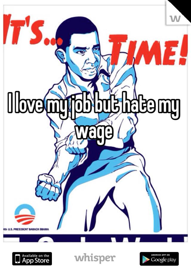 I love my job but hate my wage