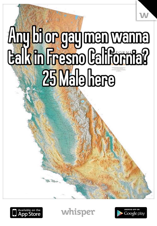Any bi or gay men wanna talk in Fresno California? 25 Male here
