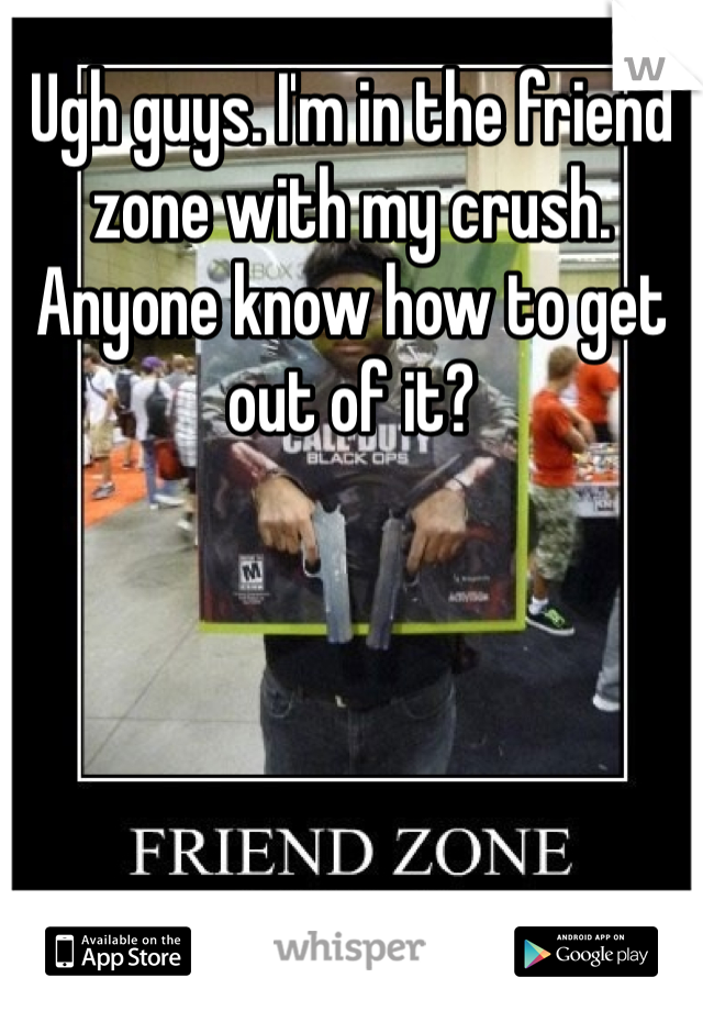 Ugh guys. I'm in the friend zone with my crush. Anyone know how to get out of it?