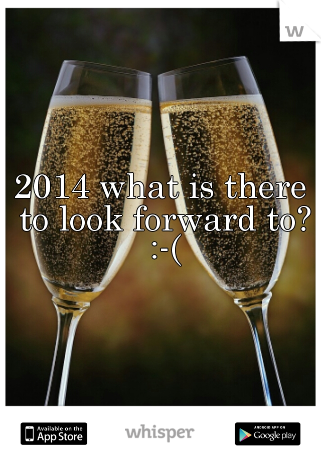 2014 what is there to look forward to? :-(