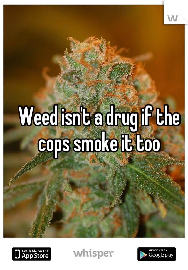 Weed isn't a drug if the cops smoke it too