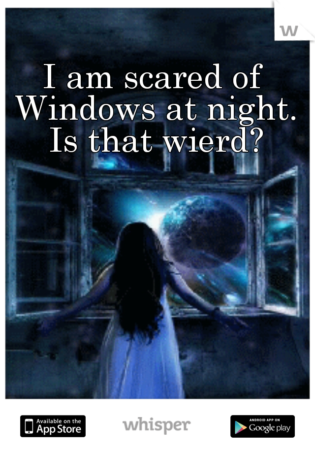 I am scared of Windows at night. Is that wierd?