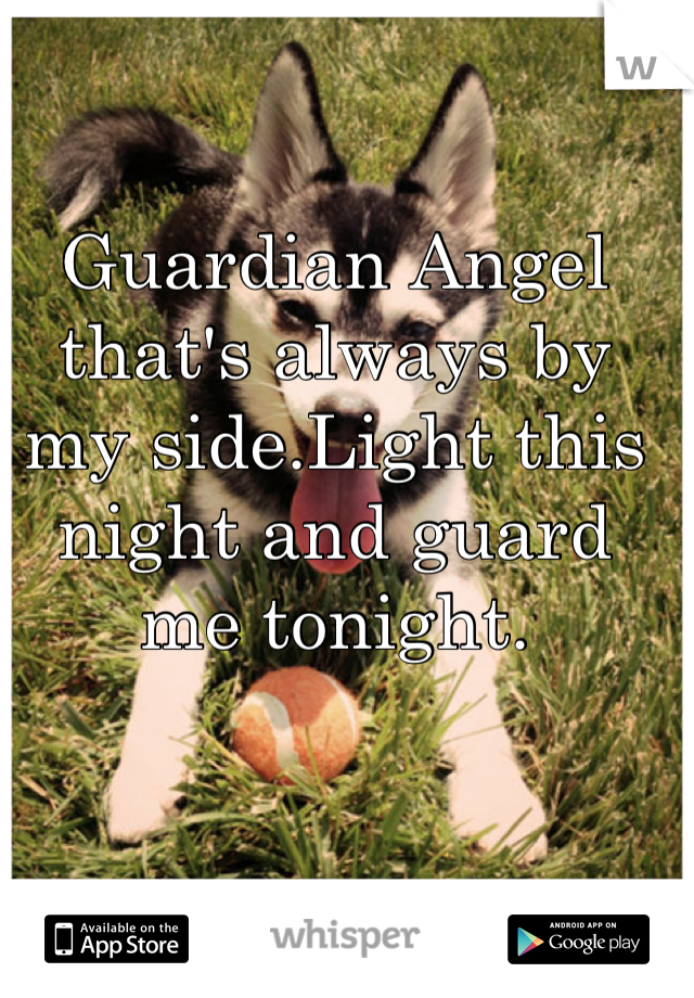 Guardian Angel that's always by my side.Light this night and guard me tonight.