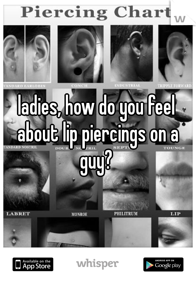 ladies, how do you feel about lip piercings on a guy?
