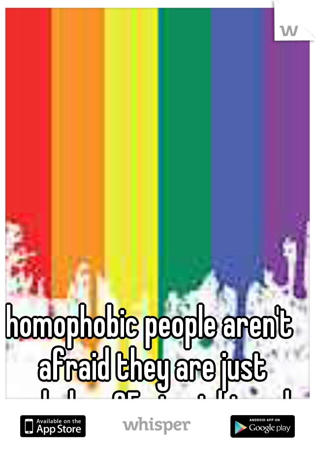 homophobic people aren't afraid they are just assholes, 25 straight male