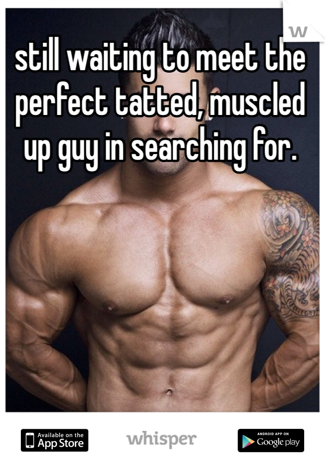 still waiting to meet the perfect tatted, muscled up guy in searching for.