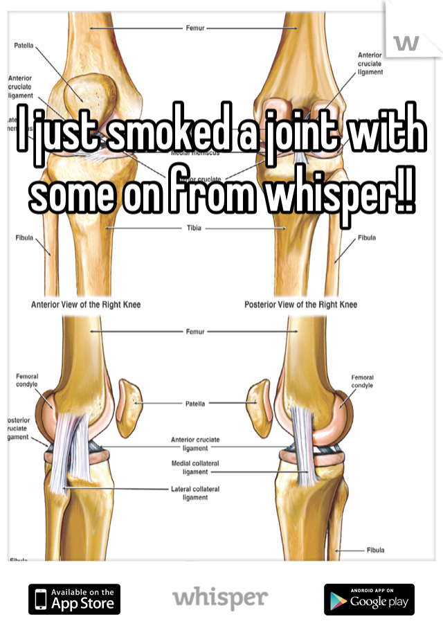 I just smoked a joint with some on from whisper!!